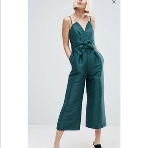 ASOS Bonded Satin Occasion Jumpsuit